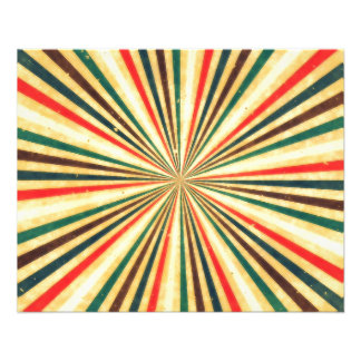 Retro Vintage Multicolored Swirl Pattern Custom Flyer