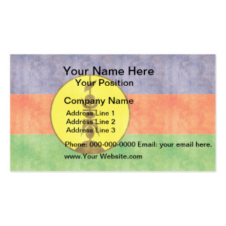 Retro Vintage New Caledonia Flag Business Cards