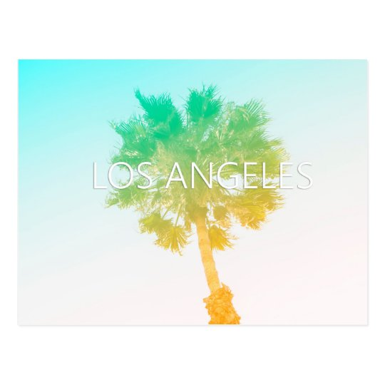 Retro Vintage Ombre Los Angeles Post Card