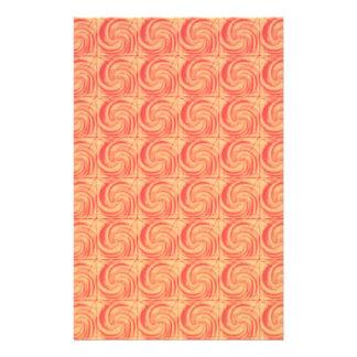Retro Vintage Orange Swirl Pattern Custom Flyer