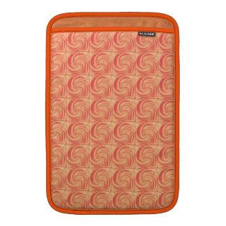 Retro Vintage Orange Swirl Pattern MacBook Sleeves