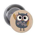 Retro Vintage Owl Badges