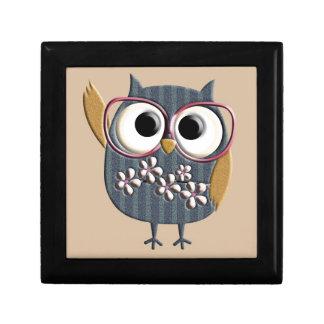 Retro Vintage Owl Gift Box