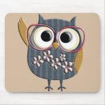 Retro Vintage Owl Mousemat