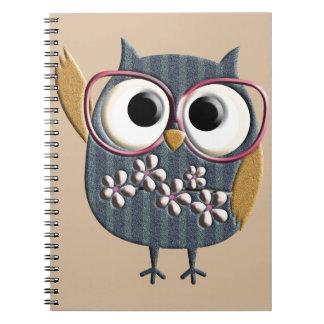 Retro Vintage Owl Notebook