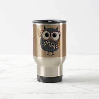 Retro Vintage Owl Stainless Steel Travel Mug