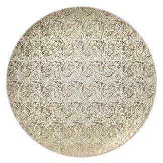 Retro Vintage Pattern Old Embossed Paper Party Plates