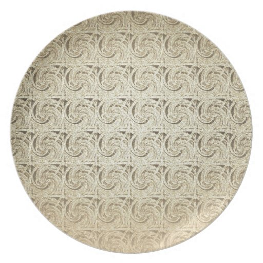Retro Vintage Pattern. Old Embossed Paper Party Plates