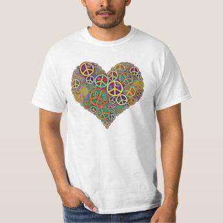 Retro Vintage Peace Heart Shirts