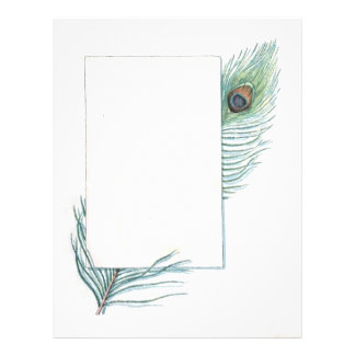 Retro Vintage Peacock Feather All Occasion 21.5 Cm X 28 Cm Flyer