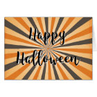 Retro Vintage Plain Blank Happy Halloween Card