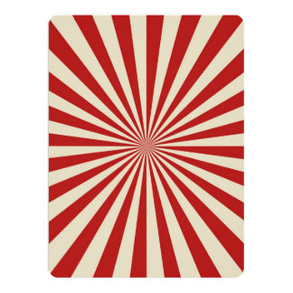 Retro Vintage Popcorn Classic Spinning Wheel 17 Cm X 22 Cm Invitation Card