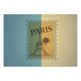 Retro Vintage Postage Paris Pattern Business Card Templates
