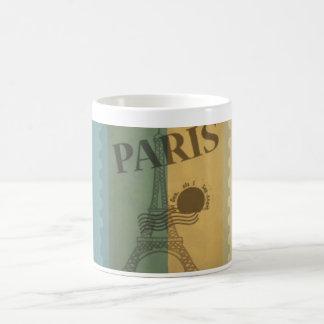 Retro Vintage Postage Paris Pattern Coffee Mugs