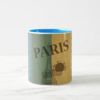 Retro Vintage Postage Paris Pattern Mug