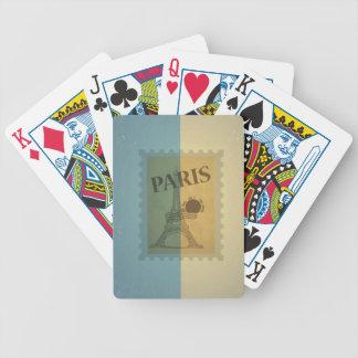 Retro Vintage Postage Paris Pattern Card Deck