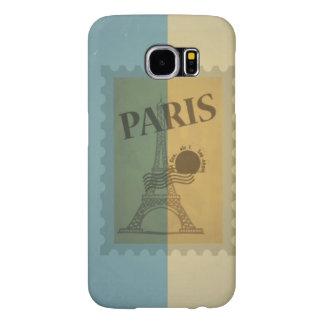 Retro Vintage Postage Paris Pattern Samsung Galaxy S6 Cases