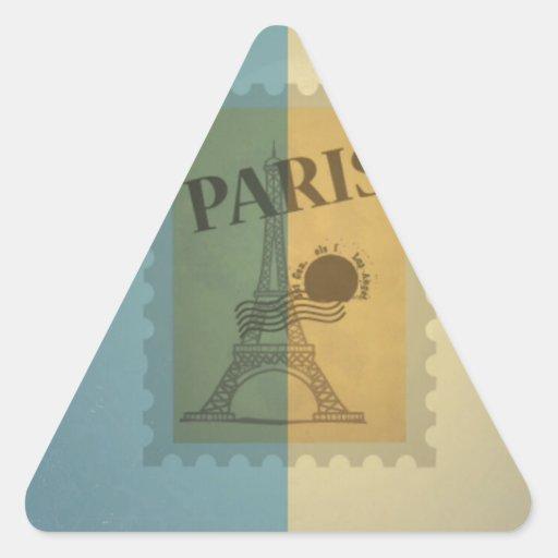 Retro Vintage Postage Paris Pattern Sticker