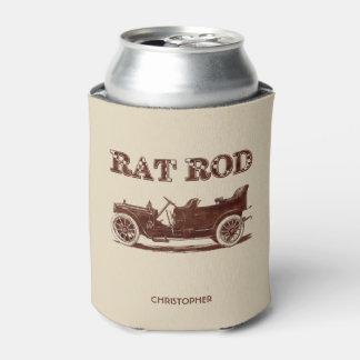 Retro Vintage Rat Rod Old School Cool Rusty Car Can Cooler