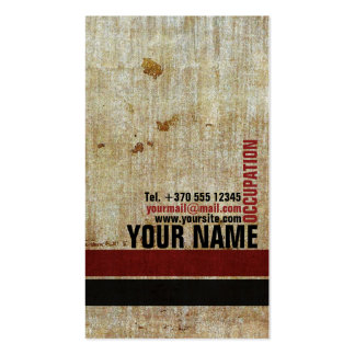 Retro Vintage Red Black Patterned Stylish Card Business Card Templates