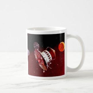 Retro Vintage Sci Fi 1967 Mars Lander Coffee Mugs