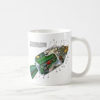 Retro Vintage Sci Fi Apollo Space Module Coffee Mug