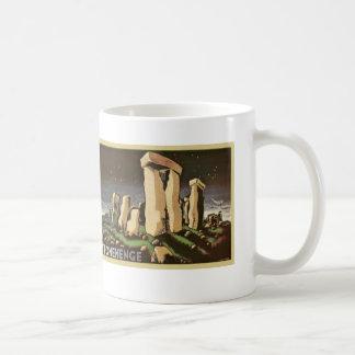 Retro Vintage Sci Fi History 'Stonehenge' Basic White Mug