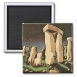 Retro Vintage Sci Fi History 'Stonehenge' Refrigerator Magnet
