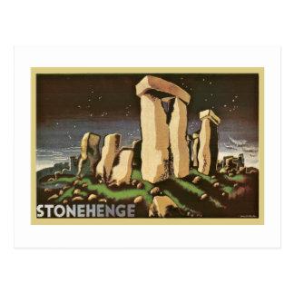 Retro Vintage Sci Fi History 'Stonehenge' Postcard