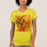 Retro Vintage Sci Fi Kitsch Space Girl T-shirt