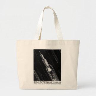 Retro Vintage Sci Fi NASA 'Saturn Rocket' Canvas Bags