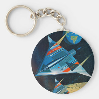 Retro Vintage Sci Fi Nasa Space Flight L-15 Basic Round Button Key Ring