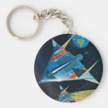 Retro Vintage Sci Fi Nasa Space Flight L-15 Keychain