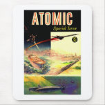 Retro Vintage Sci Fi Nuclear Atomic 60's Magazine Mouse Pad
