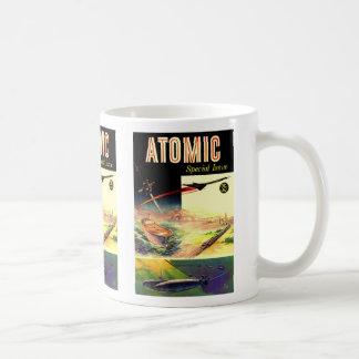 Retro Vintage Sci Fi Nuclear Atomic 60's Magazine Basic White Mug