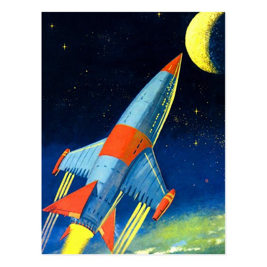 Retro Vintage Sci Fi 'Space Rocket to the
