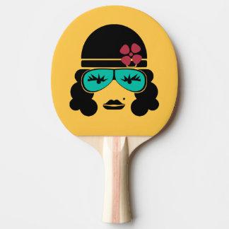 Retro Vintage Silhouette Ping Pong Bat Ping Pong Paddle