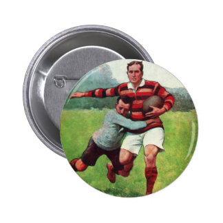 Retro Vintage Sports English Rugby Pinback Button