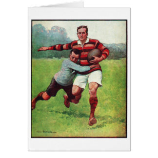 Retro Vintage Sports English Rugby Greeting Card