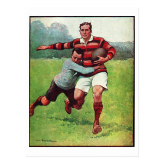 Retro Vintage Sports English Rugby Postcard