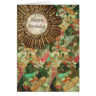 Retro Vintage Style Art Deco Birthday Day Greeting Card