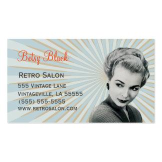 Retro Vintage Sunburst Hair Stylist Business Card