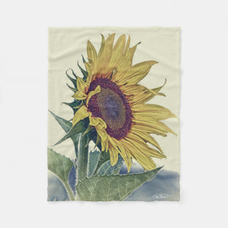 Retro Vintage Sunflower - Country Style Blanket