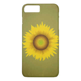 Retro Vintage Sunflower Design iPhone 7 Plus Case