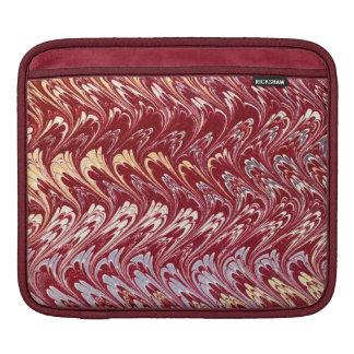 Retro Vintage Swirls Red Beige Gray iPad Sleeve