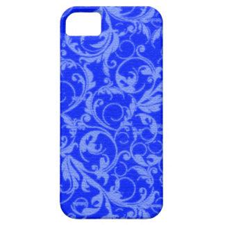 Retro Vintage Swirls Sapphire Blue Case-Mate