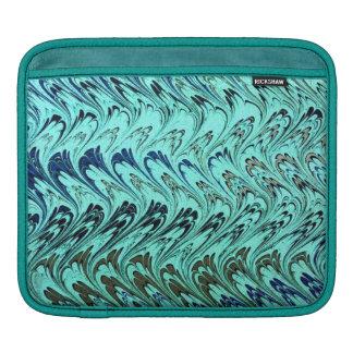 Retro Vintage Swirls Turquoise Teal Peacock iPad Sleeves For iPads