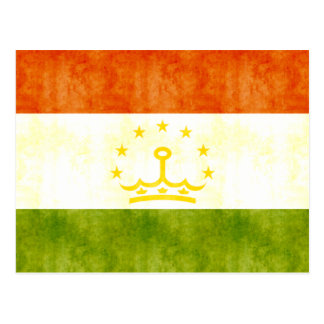 Retro Vintage Tajikistan Flag Postcard