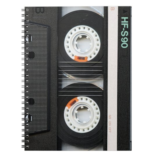 Retro Vintage Tape Cassette Recorder 70s 80s Notebook