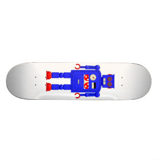 Retro vintage toy robot skate boards